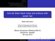 Anti-de Sitter black holes and solitons with scalar hair - Field Theory