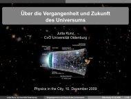 Über die Vergangenheit und Zukunft des Universums - Field Theory ...