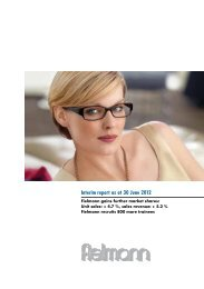 Interim report as at 30 June 2012 - Fielmann