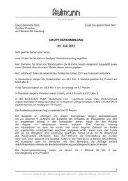HAUPTVERSAMMLUNG 05. Juli 2012 - Fielmann