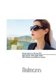 Interim report as at 30 June 2011 - Fielmann