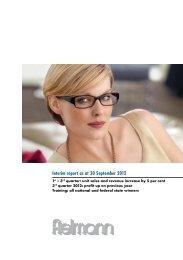 Interim report as at 30 September 2012 - Fielmann