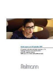 Quarterly report - Fielmann