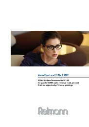 Interim Report as at 31 March 2009 - Fielmann