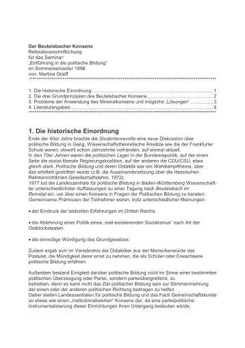 3. Probleme der Anwendung des Minimalkonsens und mögli ... - GMX