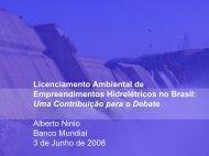 Licenciamento Ambiental de Empreendimentos Hidrelétricos ... - Fiesp