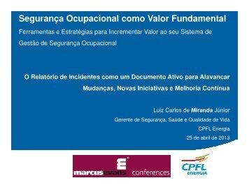 Segurança Ocupacional como Valor Fundamental - Fiesp