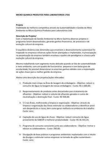 Micro-Química Produtos para Laboratórios Ltda - Fiesp