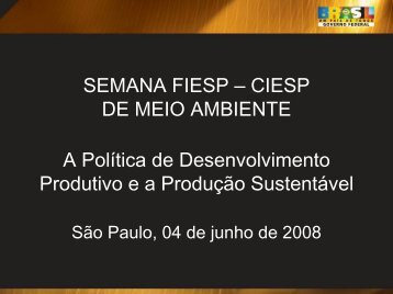 SEMANA FIESP – CIESP DE MEIO AMBIENTE