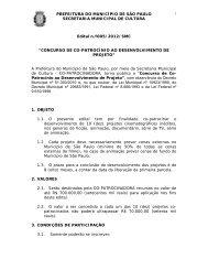PREFEITURA DO MUNICÍPIO DE SÃO PAULO ... - Fiesp