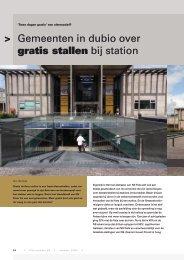 Gemeenten in dubio over gratis stallen bij station - Fietsberaad