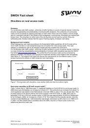 Shoulders on rural access roads - Swov