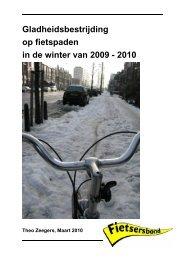 Gladheidsbestrijding op fietspaden in de winter van ... - Fietsberaad