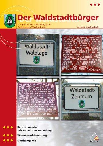Der Waldstadtbürger - KA-News