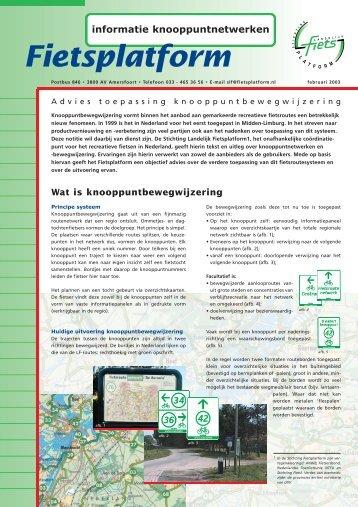informatie knooppuntnetwerken - Fietsberaad