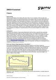 Factsheet Fietsers - SWOV
