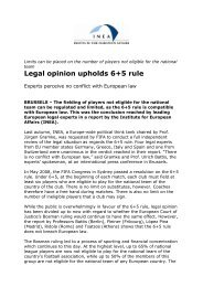 Legal opinion upholds 6+5 rule - FIFA.com