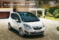 Der neue Opel Meriva Color Edition. - Autohaus Siebrecht