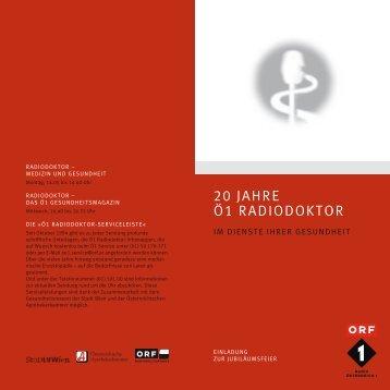 20 Jahre Ö1 Radiodoktor - Bewusst gesund - ORF