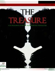 The Treasure Newsletter Issue 5 - 50 Treasures of Kenya