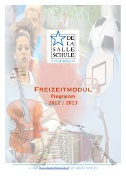FREIZEITMODUL - ANMELDUNG 2012 / 2013 - De La Salle