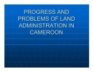 progress and problems of land administration in cameroon - FIG