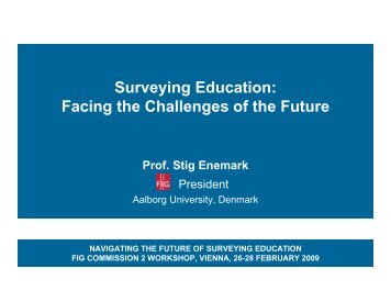 Surveying Education: Facing the Challenges of the Future - FIG
