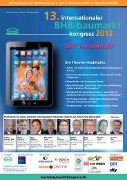 13.internationaler BHB-baumarkt kongress 2012 - Bundesverband ...