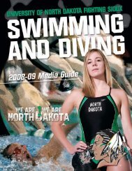 Swimming & Diving Quick Facts - University of North Dakota Athletics