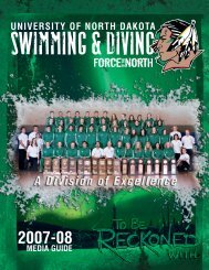 2007-08 Swimming and Diving Media Guide - University of North ...