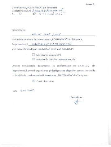 miklos zsolt - Facultatea de Inginerie din Hunedoara