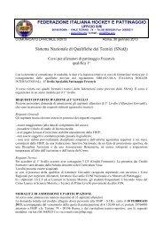 Corso Allenatori Freestyle 1° livello - Federazione Italiana Hockey e ...