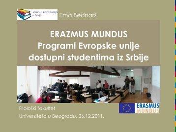 erazmus mundus - Filološki fakultet - Univerzitet u Beogradu