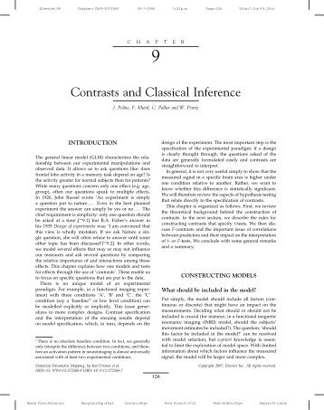 Contrasts and Classical Inference