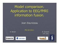 Bayesian model comparison for fMRI-constrained EEG inverse ...