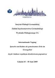 Instytut Filologii Germańskiej Zakład Językoznawstwa ...