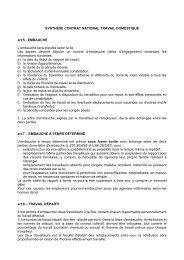 SYNTHSE CONTRAT NATIONAL TRAVAIL DOMESTIQUE - Filcams