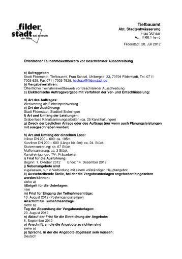 EKV Sielmingen - Stadt Filderstadt