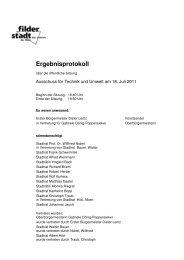Ergebnisprotokoll ATU 18.07.2011 öffentlich - Stadt Filderstadt
