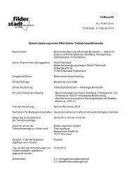 Bekanntmachung Teilnahmewettbewerb ... - Stadt Filderstadt