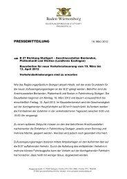 B 27 Zuflussregelunganlagen bei Bonlanden ... - Stadt Filderstadt