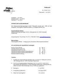 Affelter - Umlegung vorh. Mischwasserkanalisation - Stadt Filderstadt