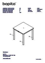 Notice de montage de la table Mix and Match Carrée Bopita