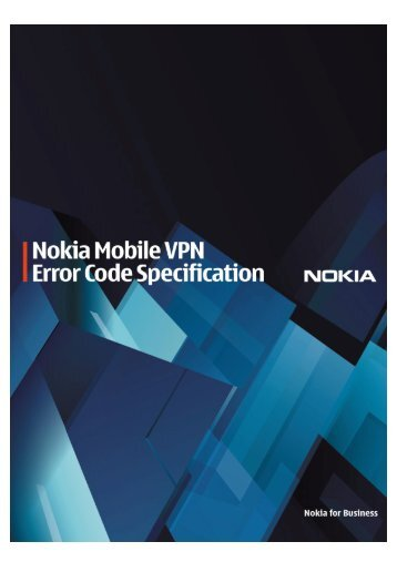 VPN error code specifications - Nokia