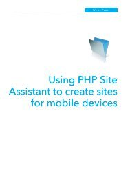 Using PHP Site Assistant to create sites for mobile devices - FileMaker