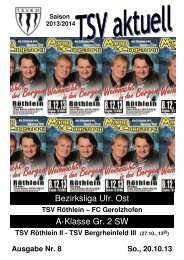 TSV aktuell Nr. 8 2013/14