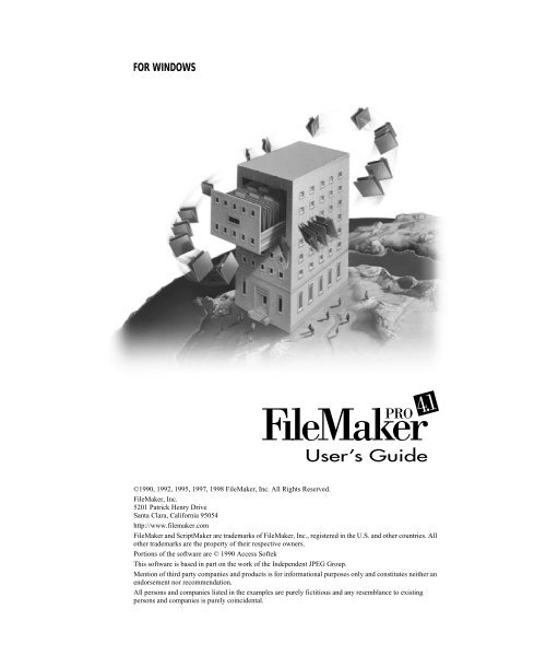 FileMaker Pro 4 1 Windows User's Guide