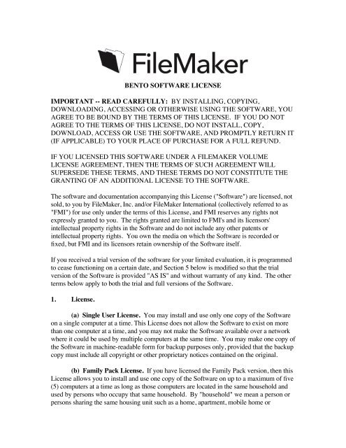 FileMaker Bento 3 Project Manager Software - hhakxv.me