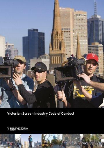 Victorian Screen Industry Code of Conduct - Film Victoria