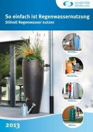 Katalog Stilvoll Regenwasser nutzen